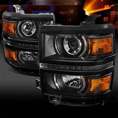 Headlights Projector Led Enlarge Silverado Chevy 1500
