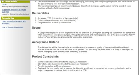 project definition template  projects