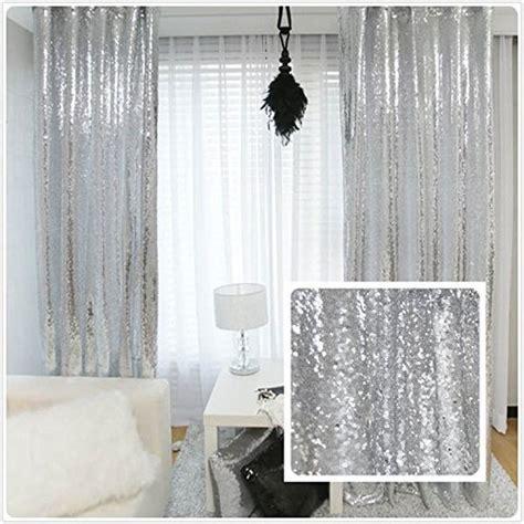 trlyc pailletten silber vorhang waehlen sie ihre groesse