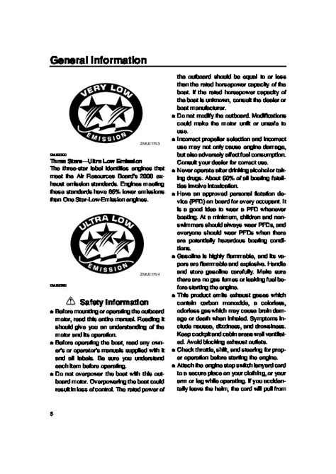 Yamaha 9 9 Outboard Motor Owners Manual by 2006 Yamaha Outboard F9 92 T 9 92 F15 Boat Motor Owners Manual