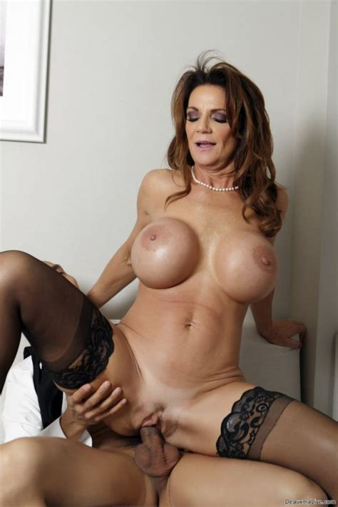 Sexy Milf Deauxma In Stockings Riding A Big Dick