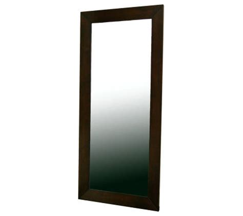 qvc floor mirror daffodil floor mirror in light cappuccino rubberwood frame qvc com