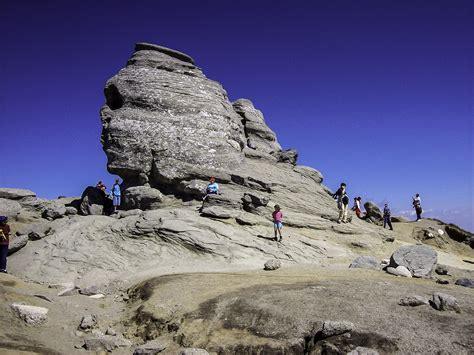 bucegi sphinx  romania image  stock photo