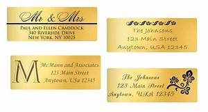 gold foil address labels personalized with your address With gold foil mailing labels