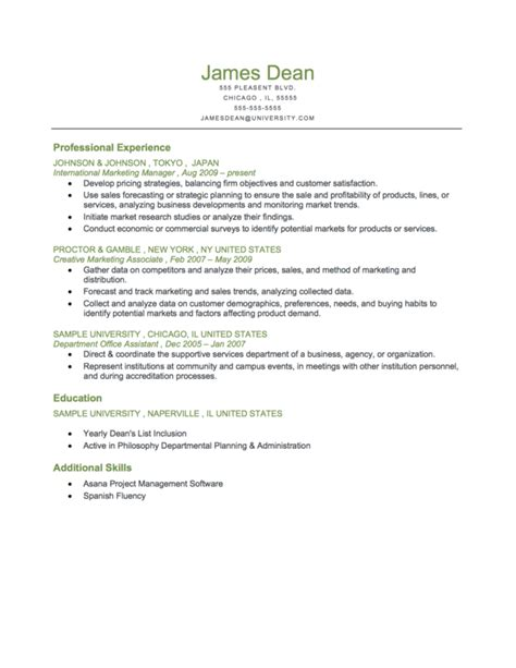 Chronological Resume Fresh Graduate type of resume for fresh graduate
