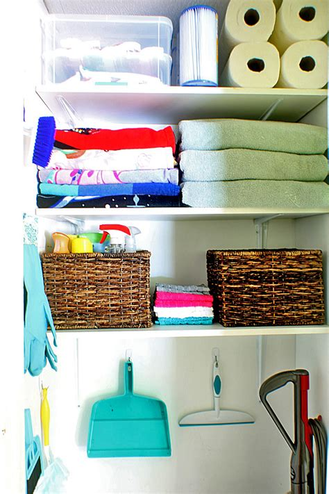Cleaning Closet Ideas by Cleaning Closet Organizing Ideas