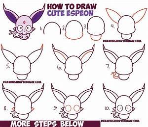 How to Draw Cute Kawaii / Chibi Espeon from Pokemon Easy ...