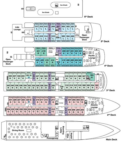 pearl cruise ship deck plans canadian maritimes st seaway cruise