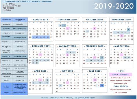 lloydminster catholic school division calendar