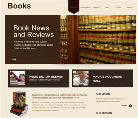 library website templates themes