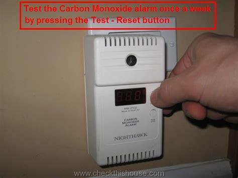 carbon monoxide alarm maintenance  alarm testing