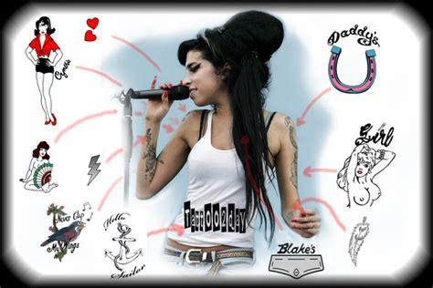 Amy Winehouse Tattoos  Celebrities Tattooed