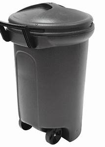 32, Gallon, Wheeled, Trash, Can, Garbage, Container, Outdoor