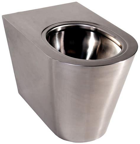 twyford stainless steel floor standing   wall wc pan