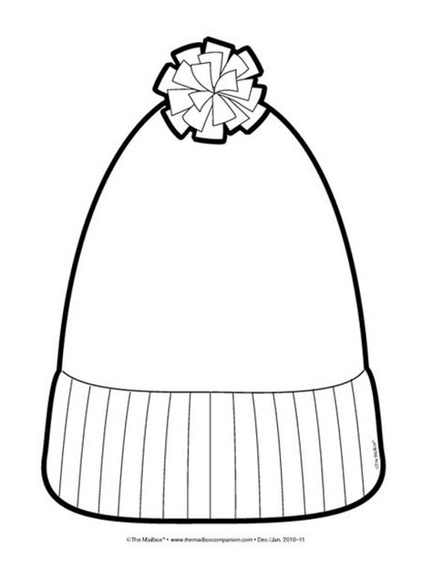 winter hat template winter hat coloring page image clipart images grig3 org