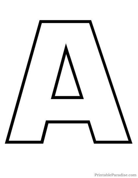 printable letter  outline print bubble letter