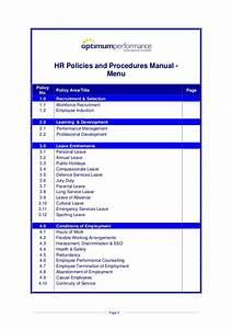 Hr Policies And Procedures Manual