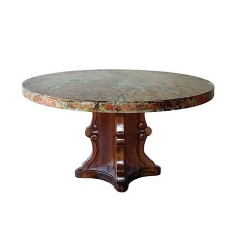 hammered copper table ls on sale designer carved base hammered oxidized copper top dining table