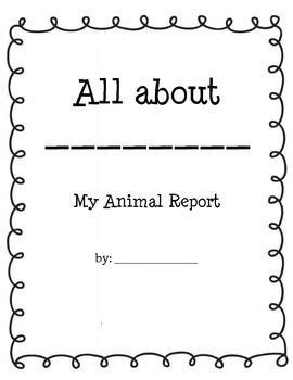 animal research report informational writing