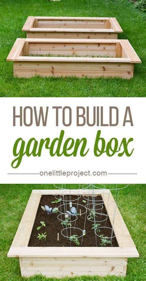 How To Build A Backyard Garden by Best 25 Garden Planter Boxes Ideas On Planter