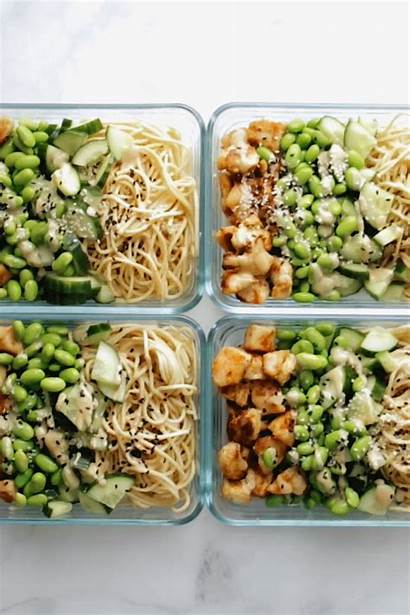 Prep Meal Healthy Bowls Lunch Sesame Noodle