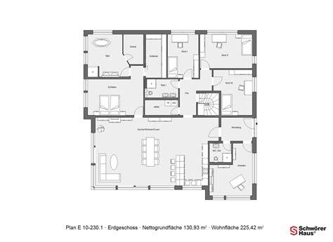 Schwörer Haus Grundrisse by Erdgeschoss Grundriss Schw 246 Rer Plan E 10 230 1 Mit 225