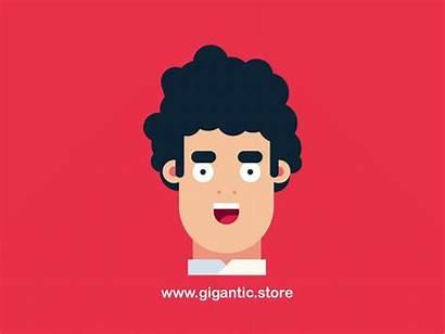Flat Character Dribbble Gigantic Easy Cartoon Face
