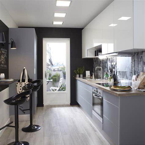cuisines grises meuble de cuisine gris delinia leroy merlin