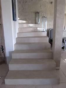 revgercom beton cire sur escalier brut idee With peindre un escalier en pierre