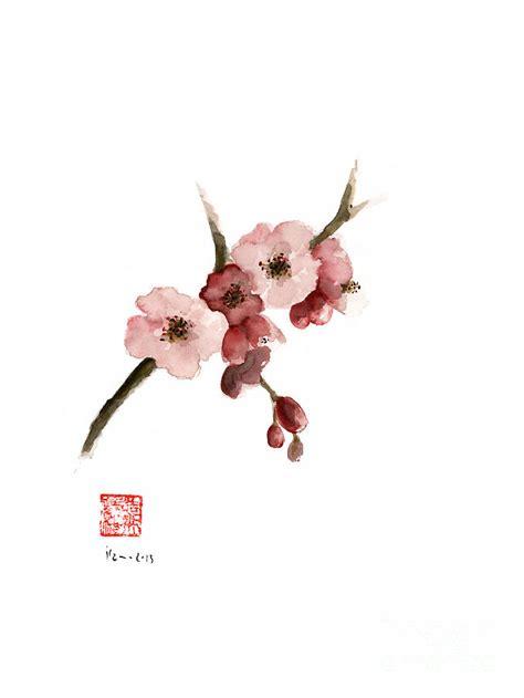 Cherry Blossom Sakura Pink Tree Delicate White Flower