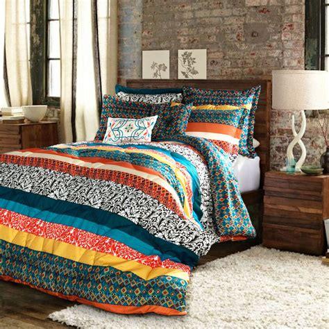 Lush Bedding Sets by Lush Decor Boho Stripe 7 Comforter Set Ebay