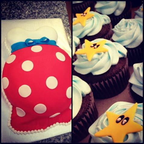 Mario Brothers Themed Baby Shower Cake And Cupcakes I Made