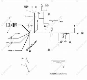 Polaris Atv 2009 Oem Parts Diagram For Electrical  Wire