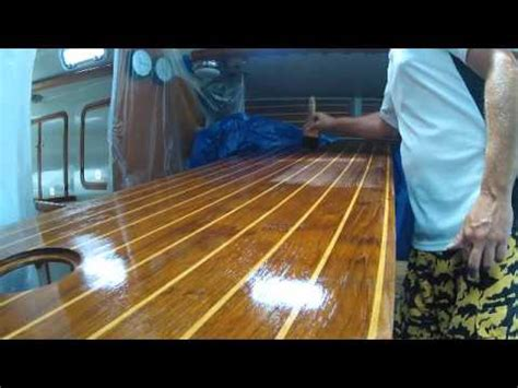 Boat Sole Flooring by How To Varnish And Refinish A Cabin Sole Sailboat Floor