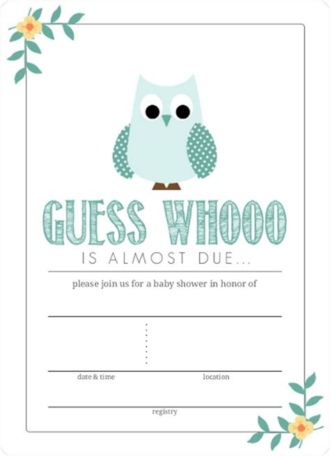 eye catching teal blue owl graphic fill  blank baby