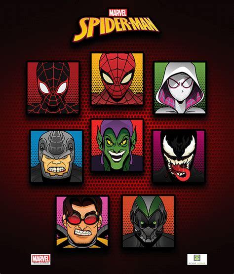 spider man faceblocks  behance