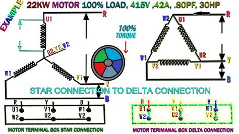 How Work Induction Motor Star Delta Connection
