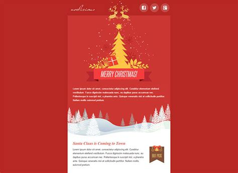 20 wonderful christmas new year email templates web