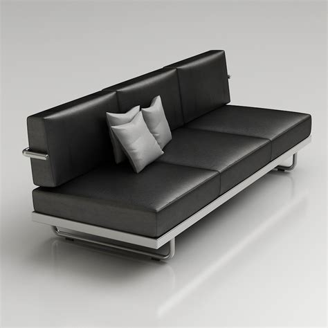 Corbusier Loveseat by 3d Le Corbusier Lc5 Sofa High Quality 3d Models