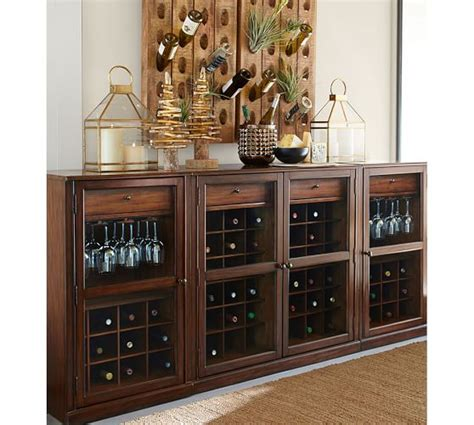pottery barn wine cabinet french wine bottle riddling rack pottery barn