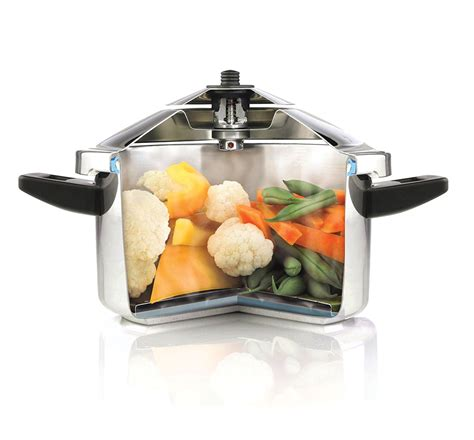 kuhn rikon duromatic stainless steel stock pot pressure cooker  quart cutlery