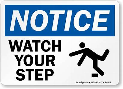 Step Sign Signs Notice Graphic Osha Mysafetysign
