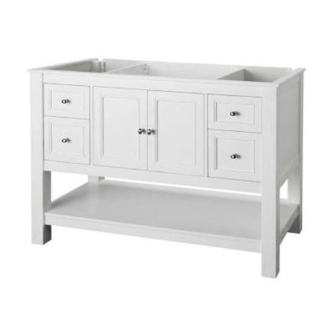 48 white bathroom vanity without top home decorators collection gazette 48 in vanity cabinet