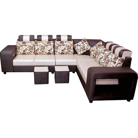 L Shape Sofa Sets by Solid Wooden Best Quality 6 Seater L Shape Sofa Set