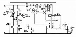Frequency Meter For 10 Hz To 100 Khz Input By 74121