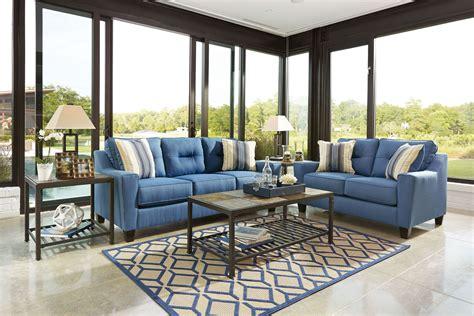 ashley forsan nuvella blue pc sofa loveseat set dallas