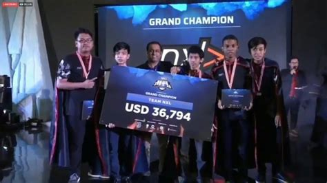 Selamat Juara 1 Nxl Final Mpl 2018!