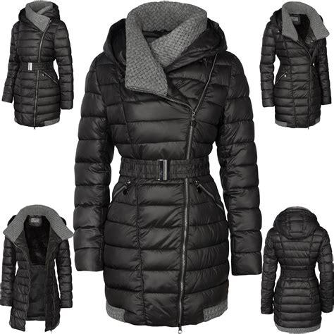 damen winter damen winter mantel 220 bergangsmantel lang daunen optik mit kapuze damen mode m 228 ntel