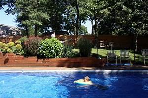 une haie autour de la piscine With jardin paysager avec piscine 9 une haie autour de votre piscine 187 piscine
