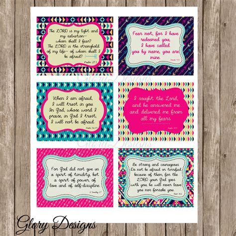 printable prayer cards scripture memorization fearless